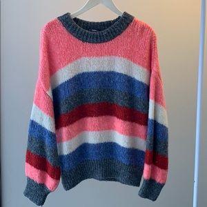 Oversized Knit Stripped Sweater